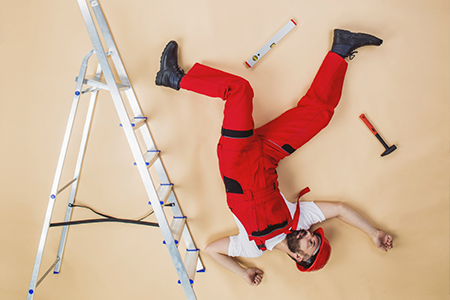 A Man Falling and Getting Injured at Work