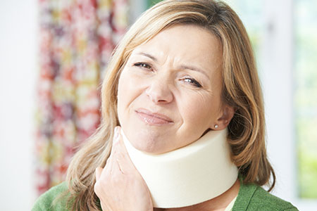 Woman with an Injured Neck