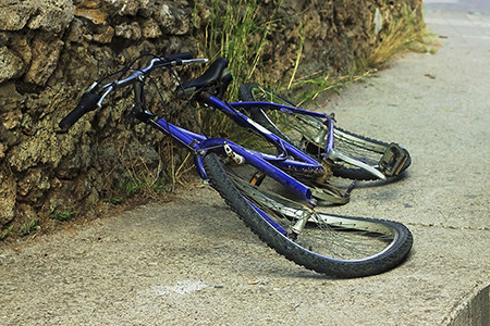 05-25 Crushed Bicycle from Accident Needing a Personal Injury Law Firm to Help