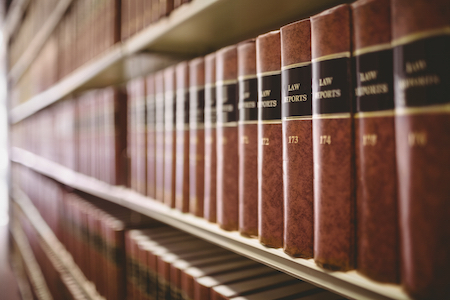 5-15 Law Books from Personal Injury Lawyer's Office